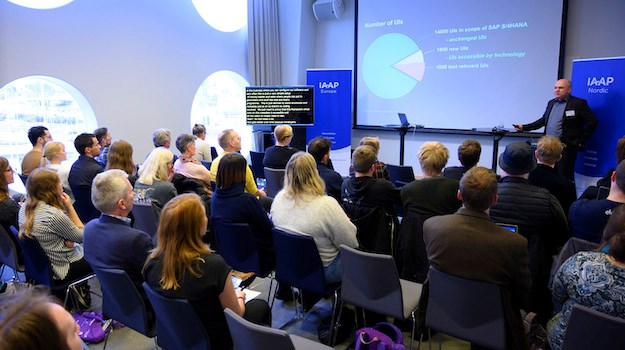 Picture of audience at IAAP Nordic Conference last year.