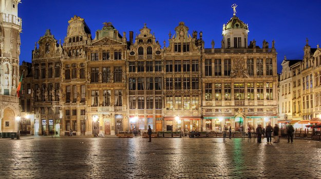 Square in Brussels. Photo